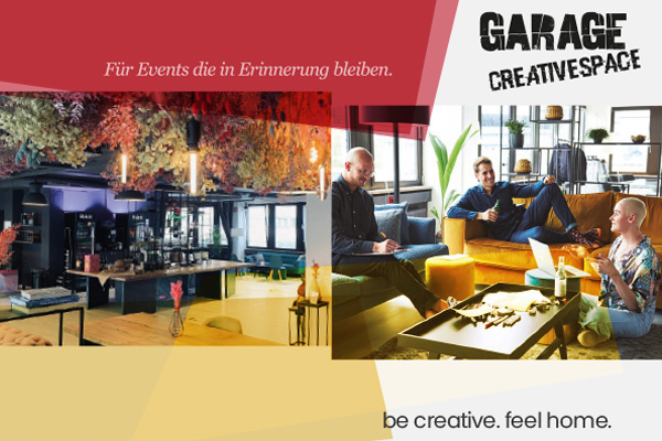 garage CREATIVESPACE Tagungsangebot als PDF downloaden